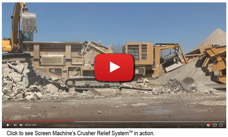 Click to see Screen Machine's Remote Crusher Relief System in action