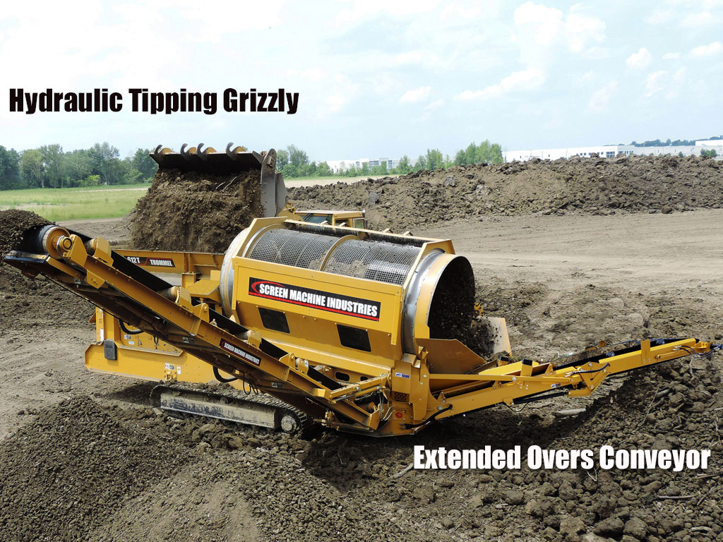 612T Tracked Trommel - A Portable Topsoil, Compost & Green